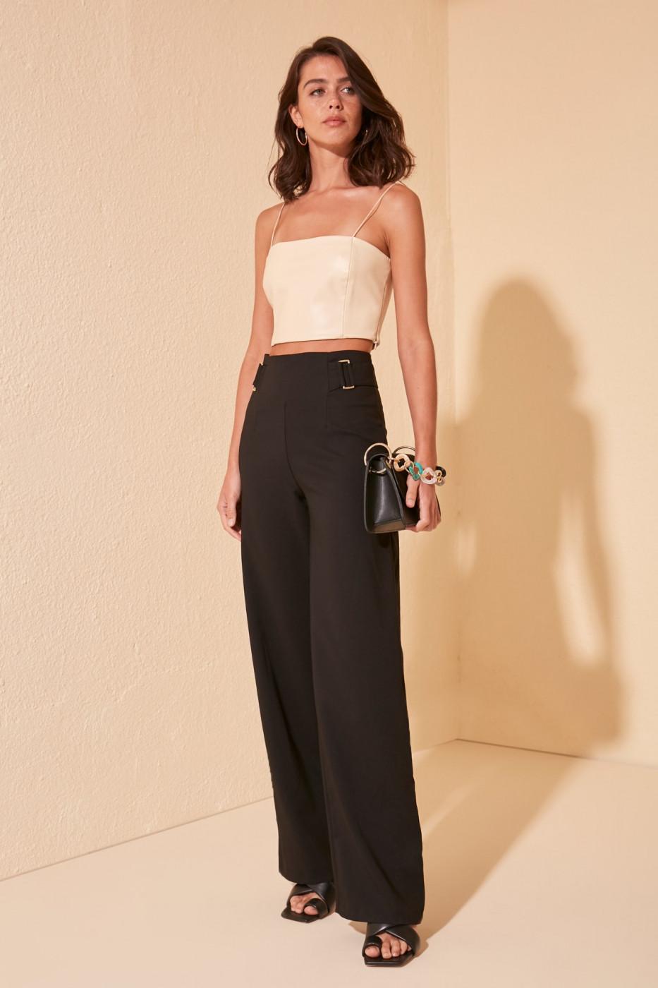 Women's pants Trendyol TWOSS20PL0294/NACY