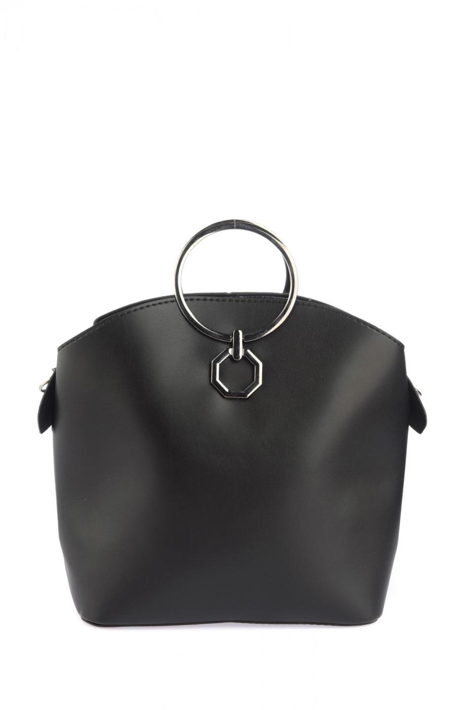 Trendyol Black Buckle Detailed Women's Shoulder Bag