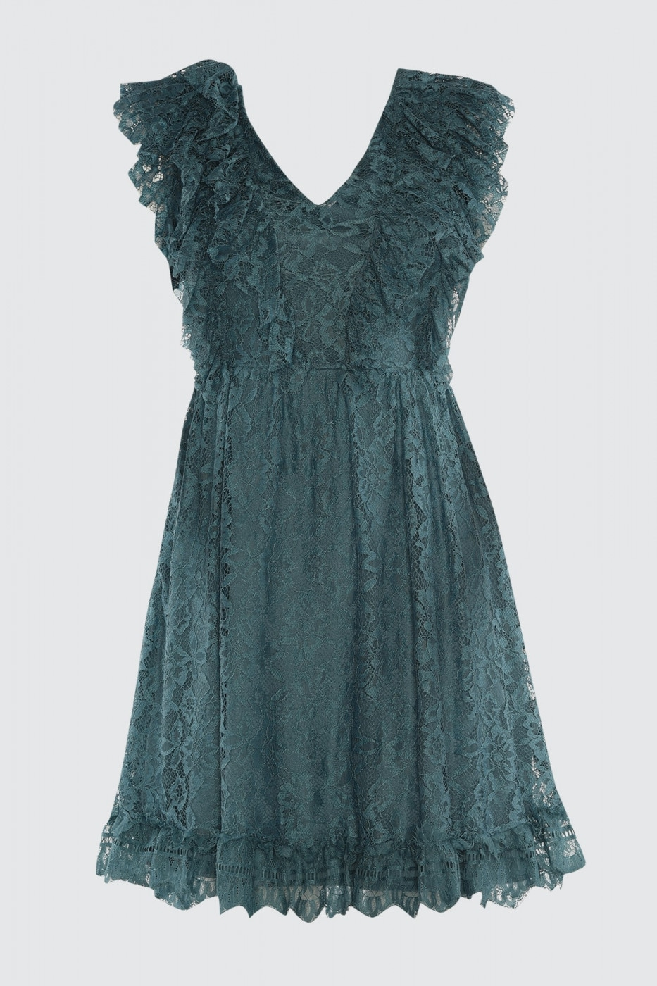 Trendyol Oil Frill Detailed Lace Dress