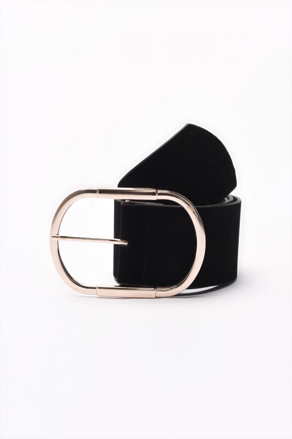 Trendyol Black Metal Buckle Leather Belt