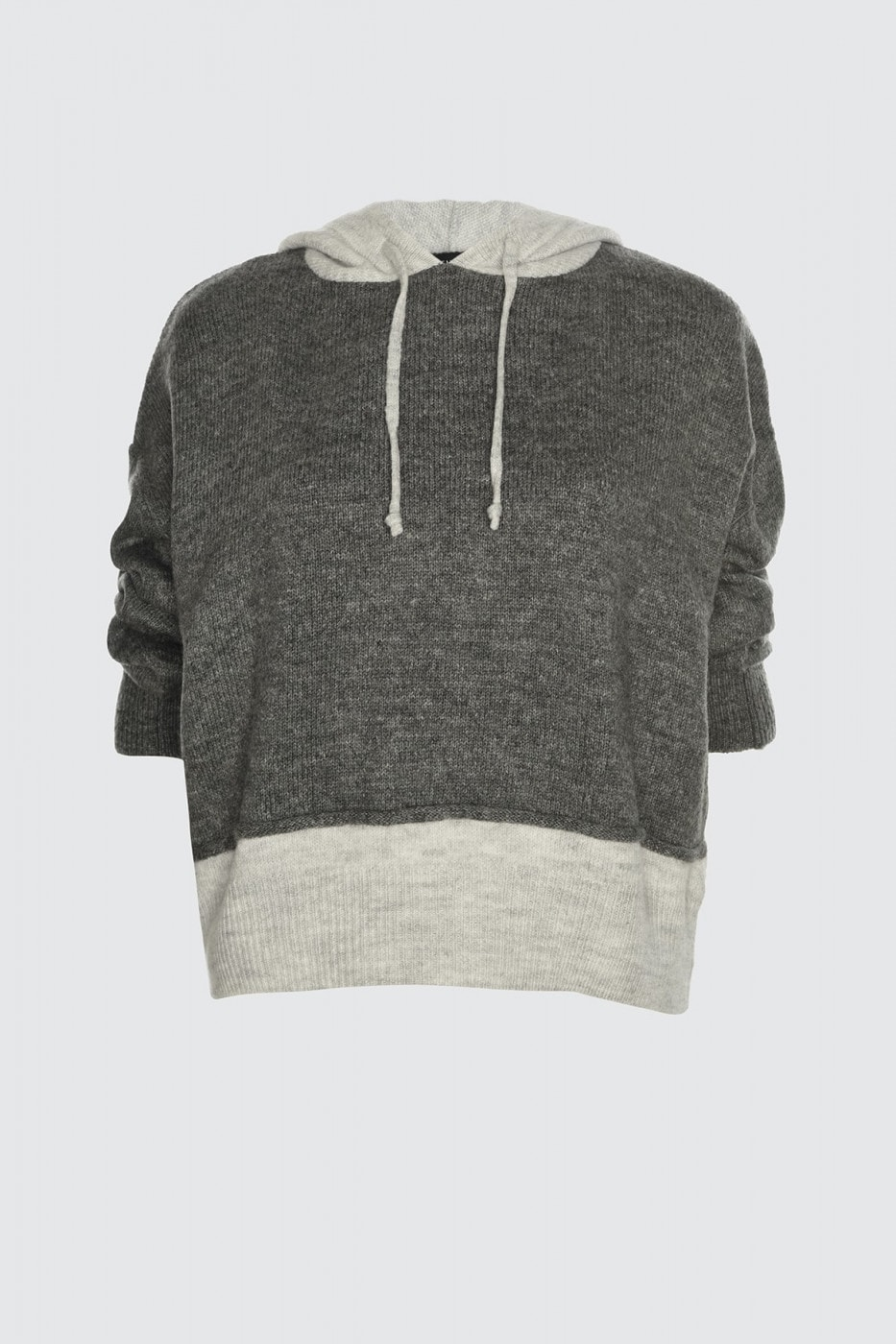 Trendyol Anthracite Hoodie Knit Sweater