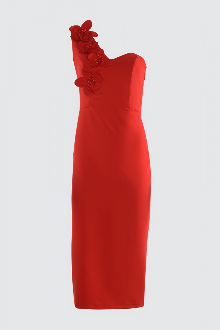 Trendyol Red Appliqué Detailed Dress