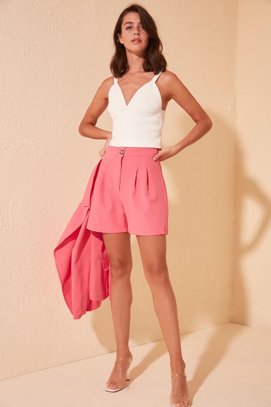 Trendyol Pink Pocket Detailed Shorts & Bermuda