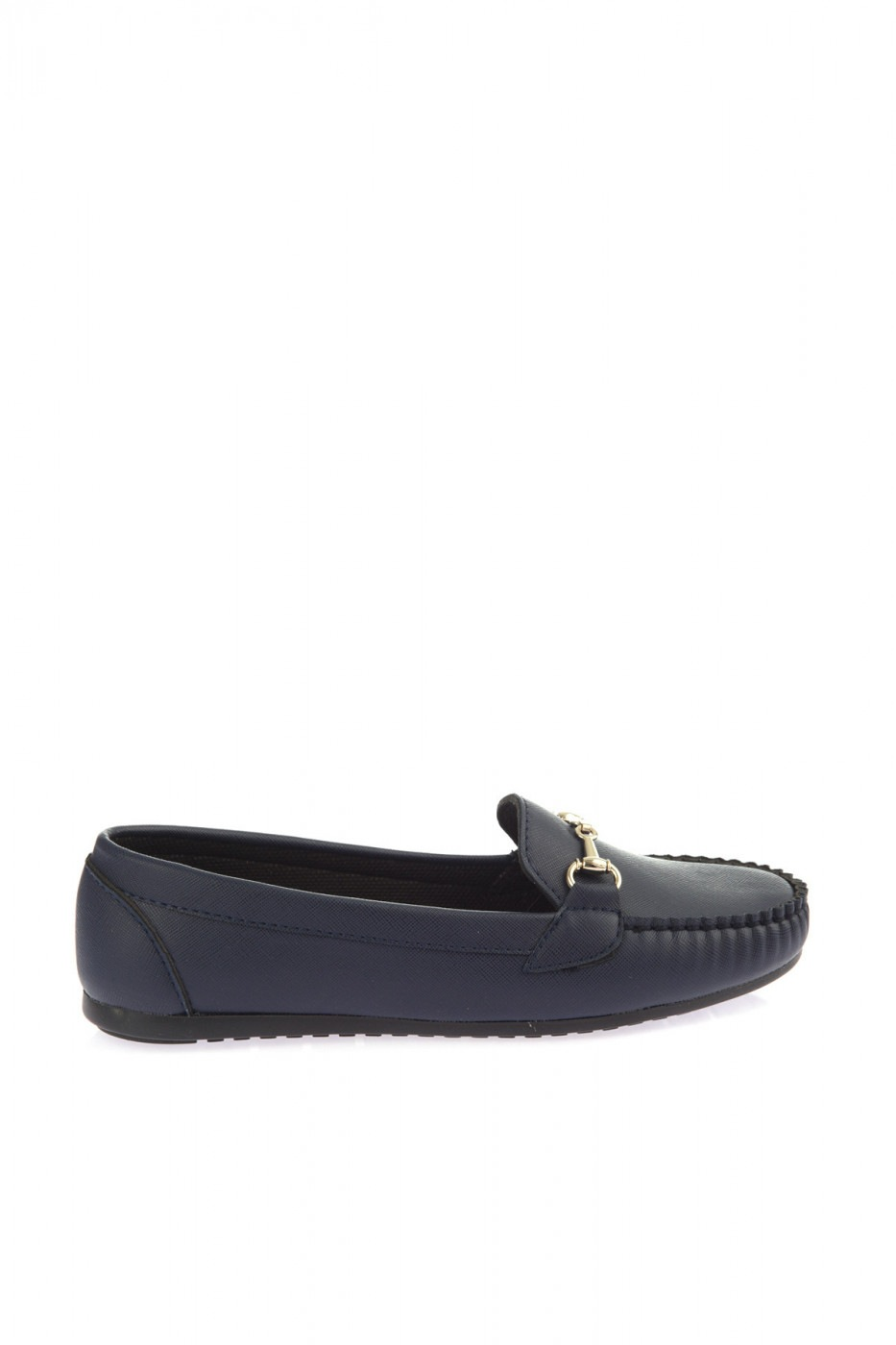 Trendyol Women's Loafer Shoes with Dark Blue Buckle