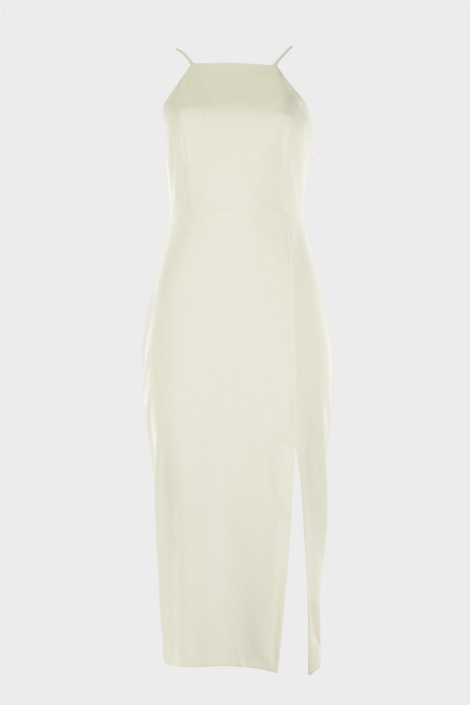 Trendyol Ekru Slit Detail Dress