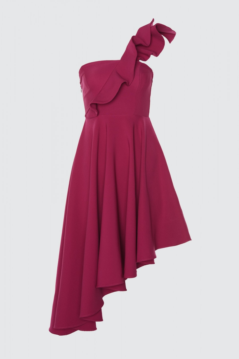 Trendyol Fuchya Flywheel Detailed Dress
