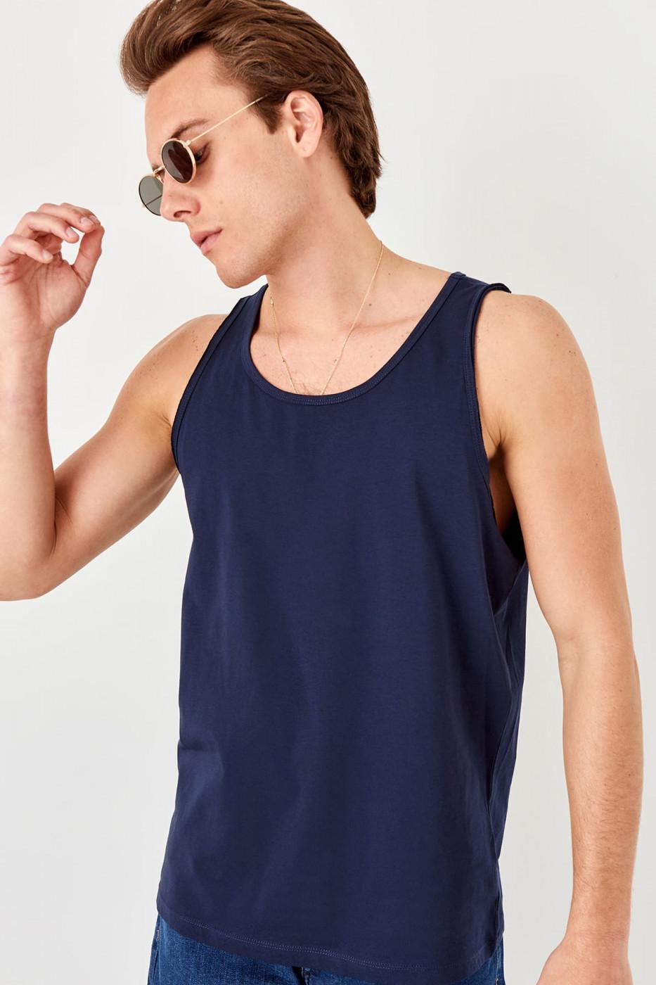 Trendyol Navy blue male filthy collar athlete