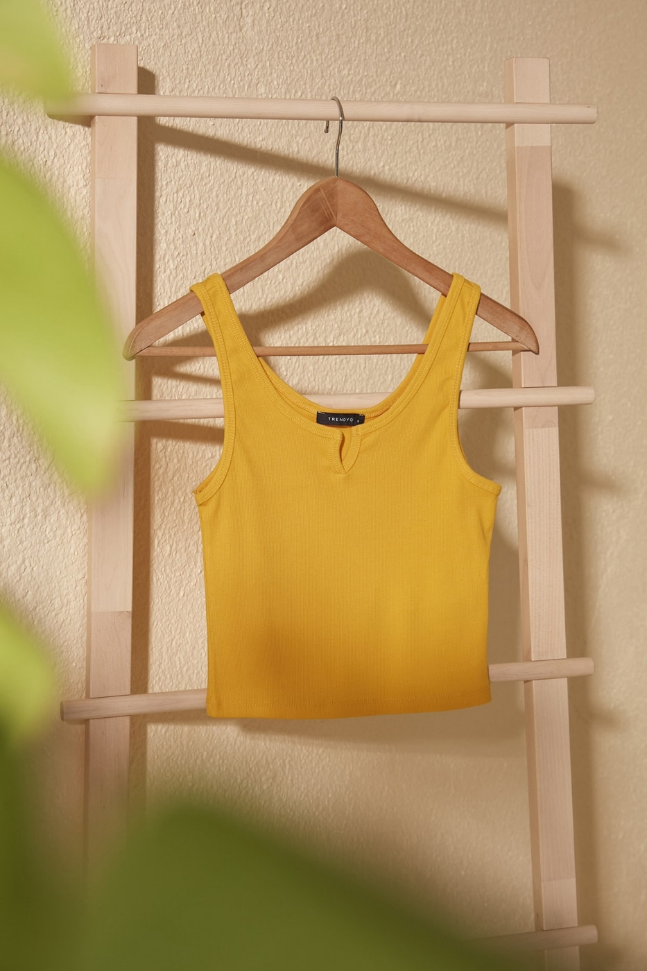 Trendyol Mustard Basic Knitted Athlete