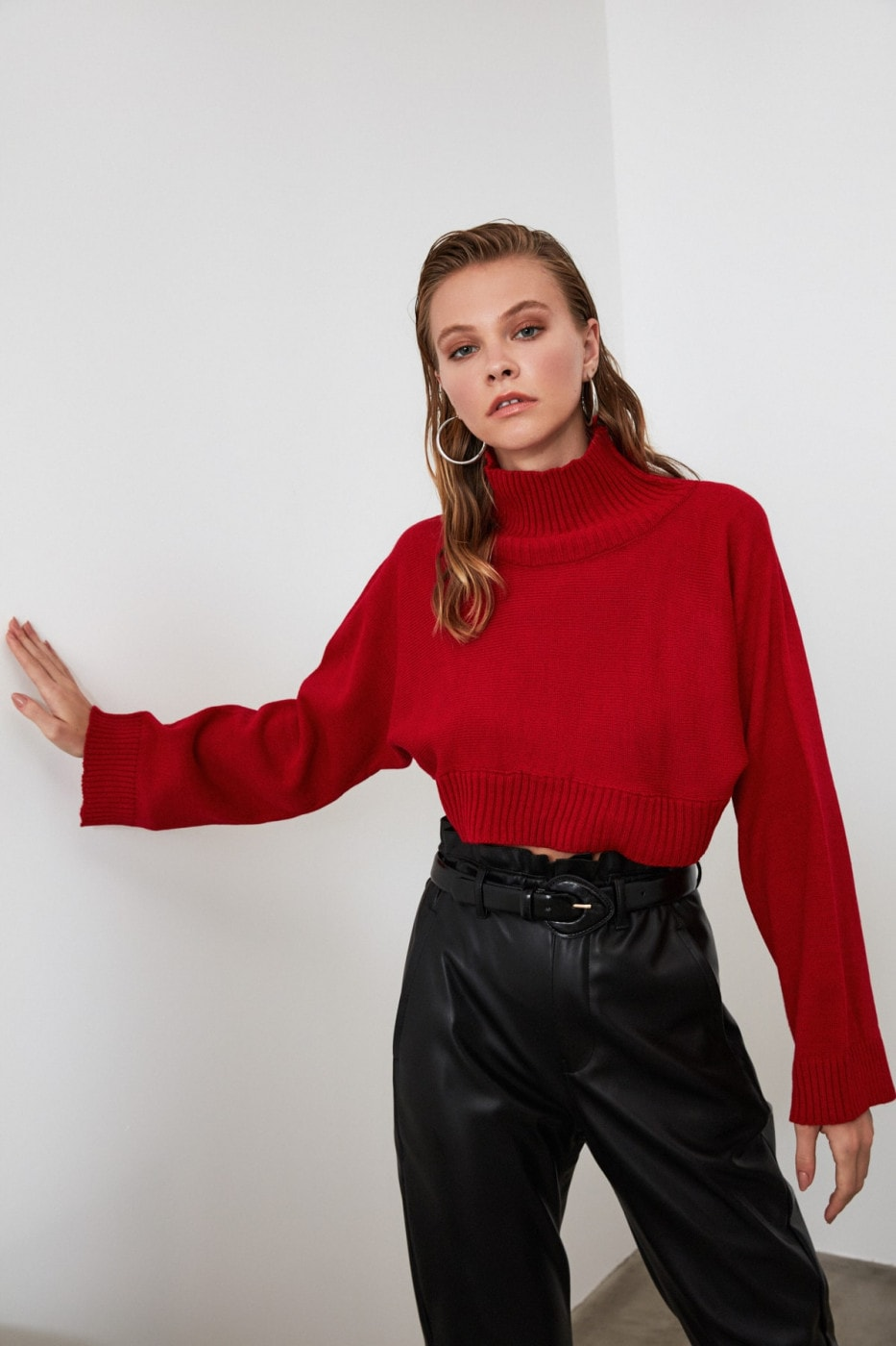 Women's turtleneck Trendyol Cropped