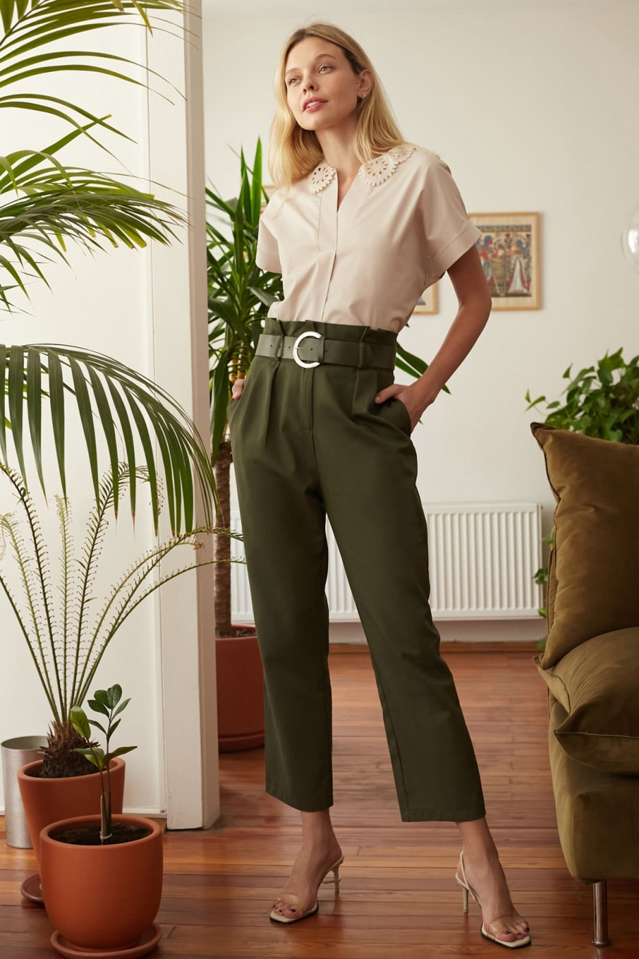 Women's pants Trendyol Belted