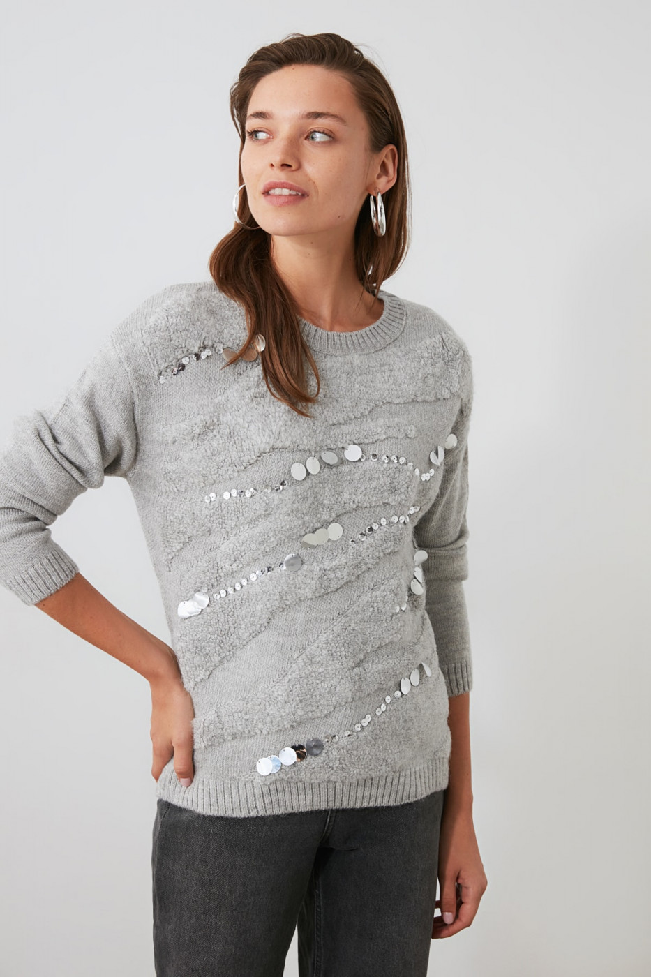 Women's sweater Trendyol Sequin Embroidered