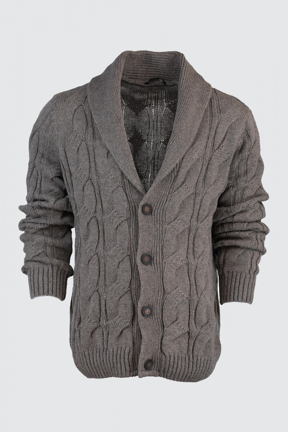 Trendyol Mink Men's Shawl Collar Pocket Cardigan