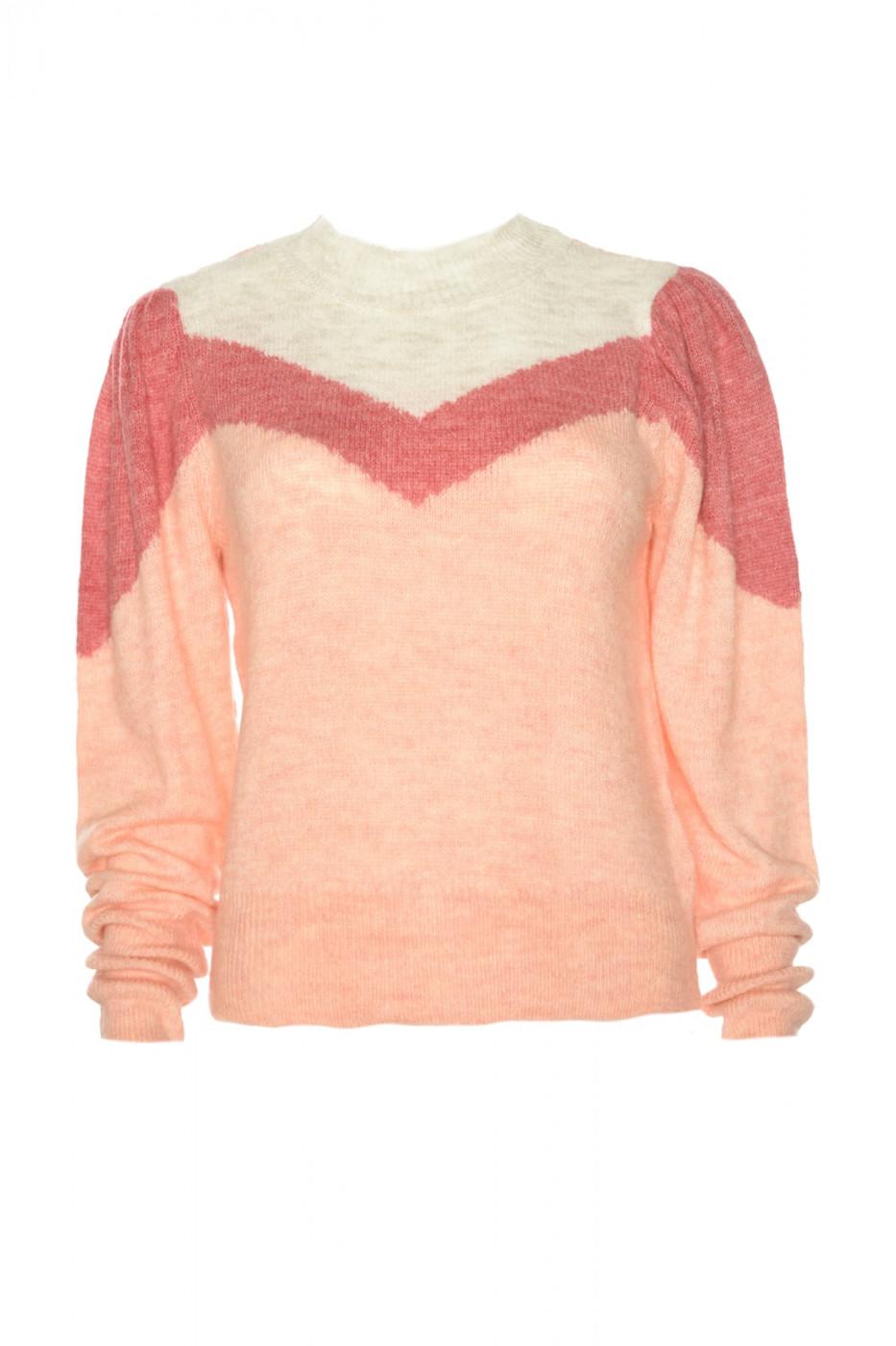 Trendyol Pomegranate Flower Block Detailed Knitwear Sweater