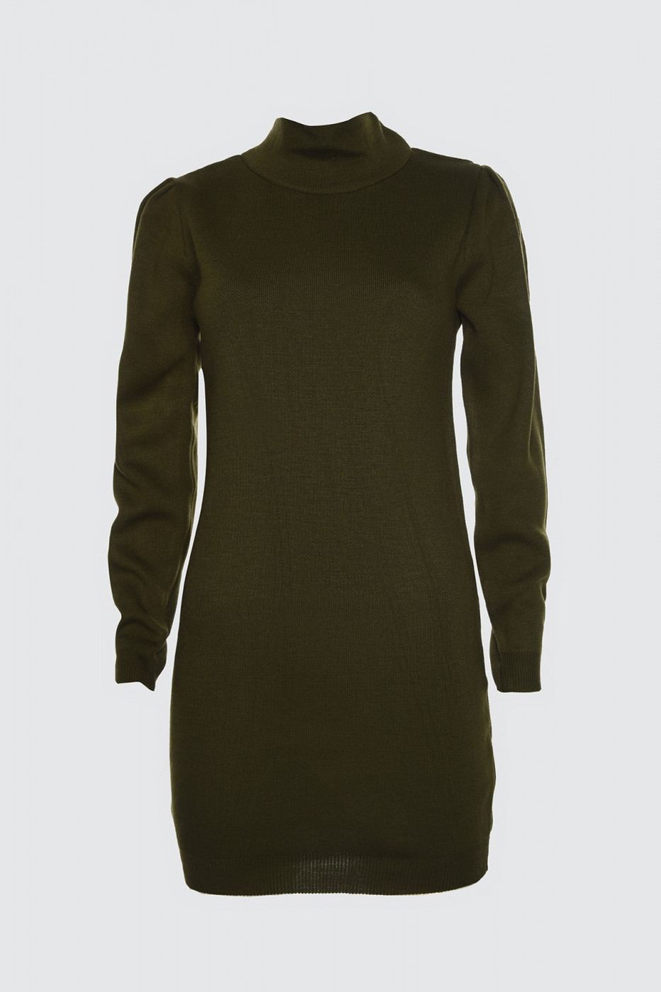 Trendyol Khaki Flat Color Sleeve Detailed Knitwear Dress