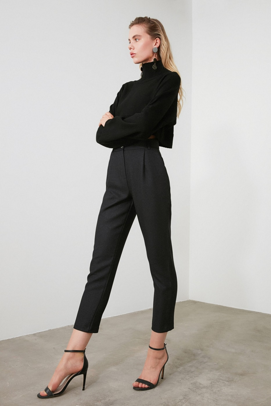 Trendyol Anthracite Basic Pants