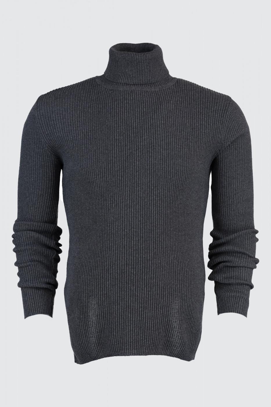 Trendyol Smoked Male Rubber Knitting Turtleneck KnitWear Sweater