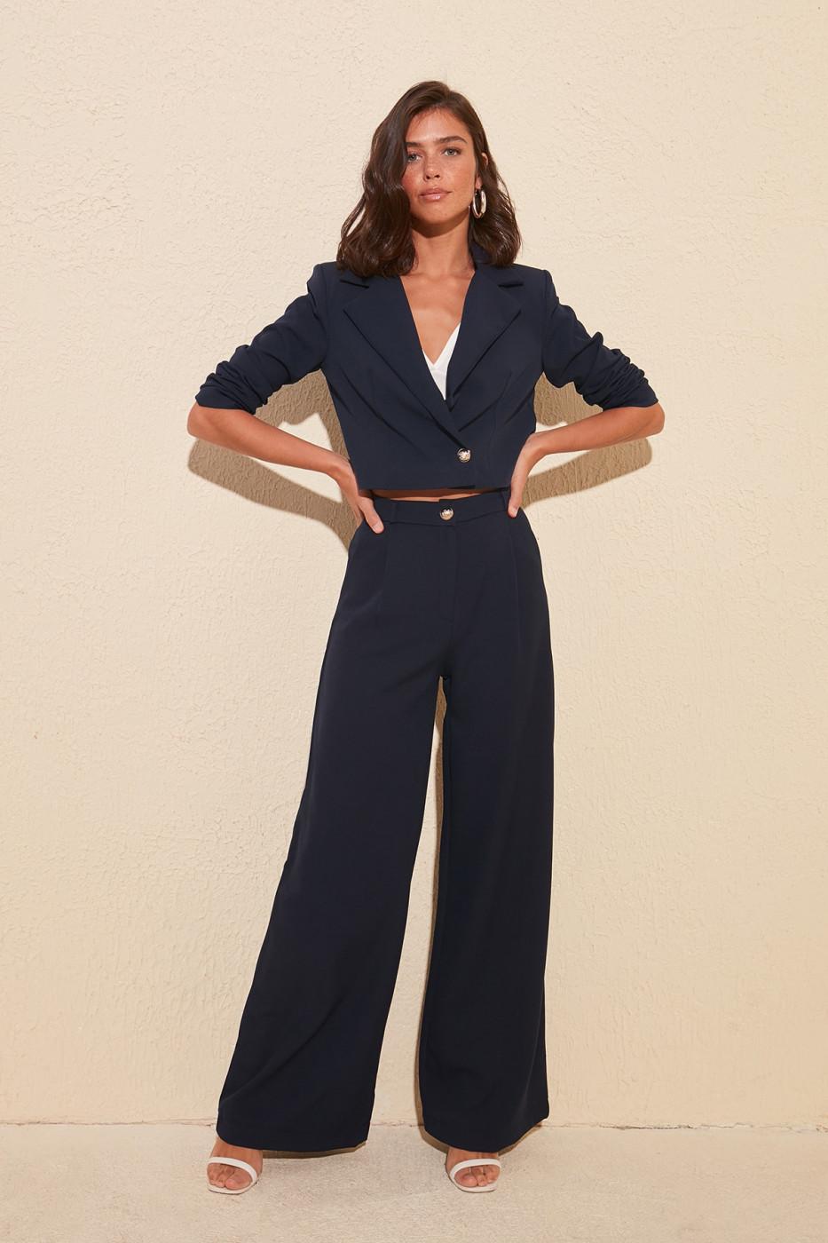 Trendyol Navy Pocket Pants