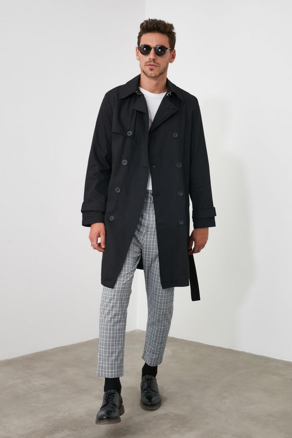 Trendyol Black Male New Coat