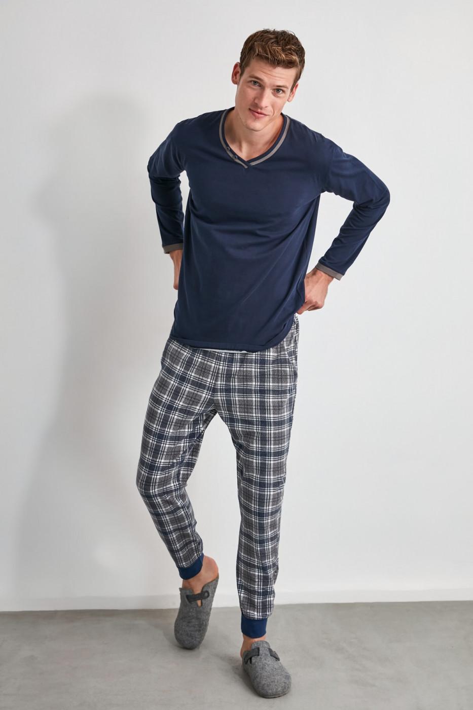 Trendyol Plaid Knitted Pajama Set