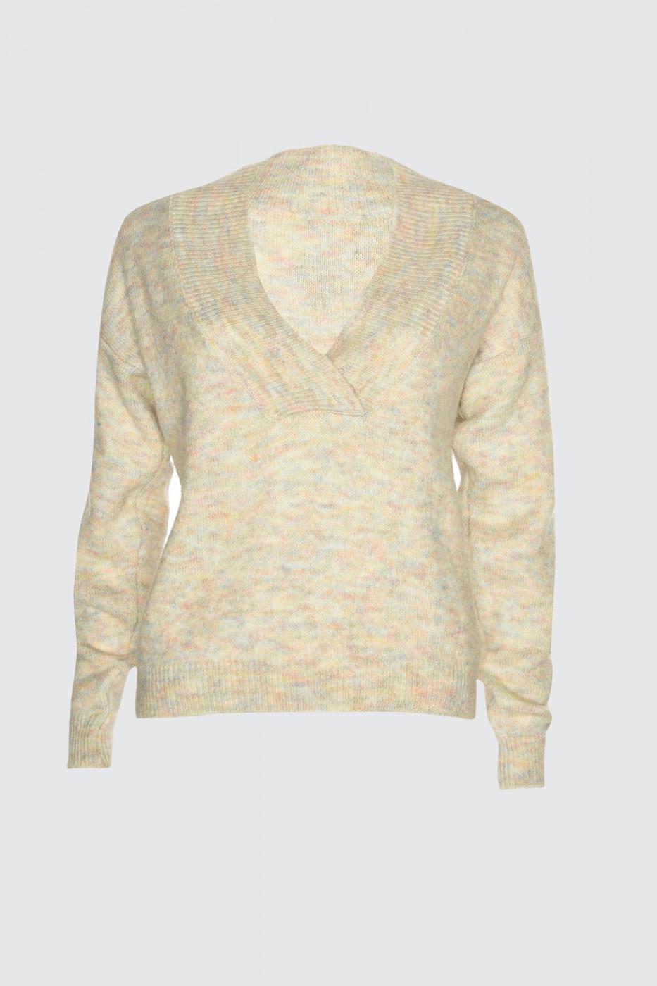 Trendyol Beige Gradient Knitwear Sweater