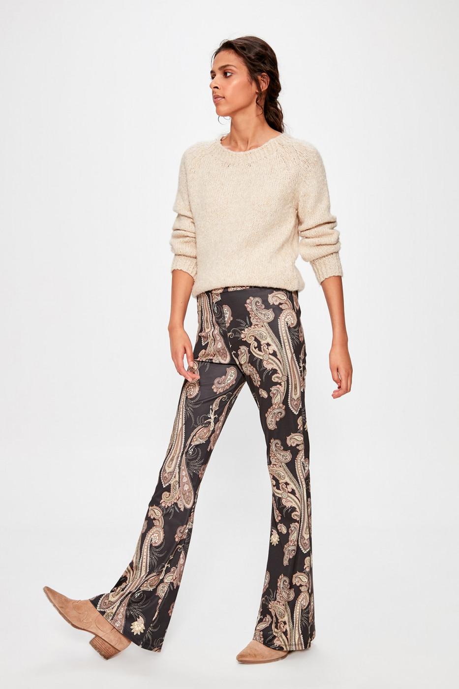 Trendyol Black Patterned Knitted Pants