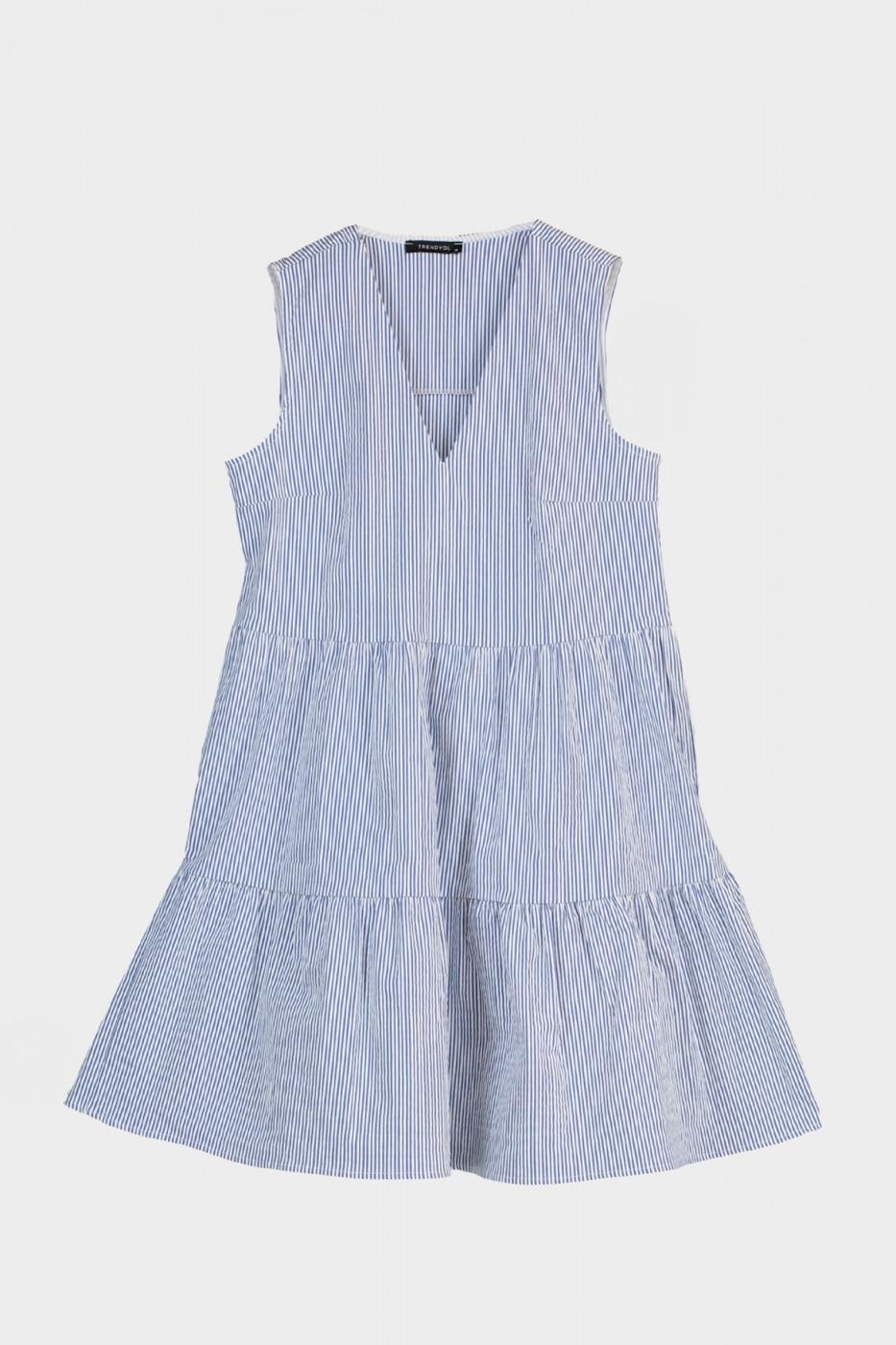 Trendyol Blue Striped Volli Dress