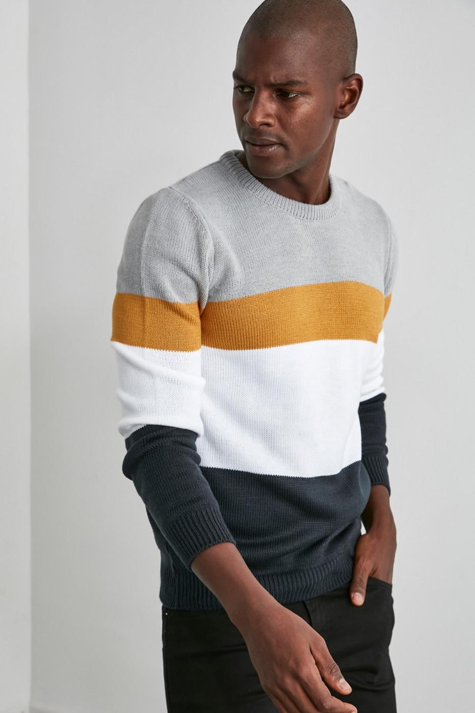 Men's sweater Trendyol Color Block
