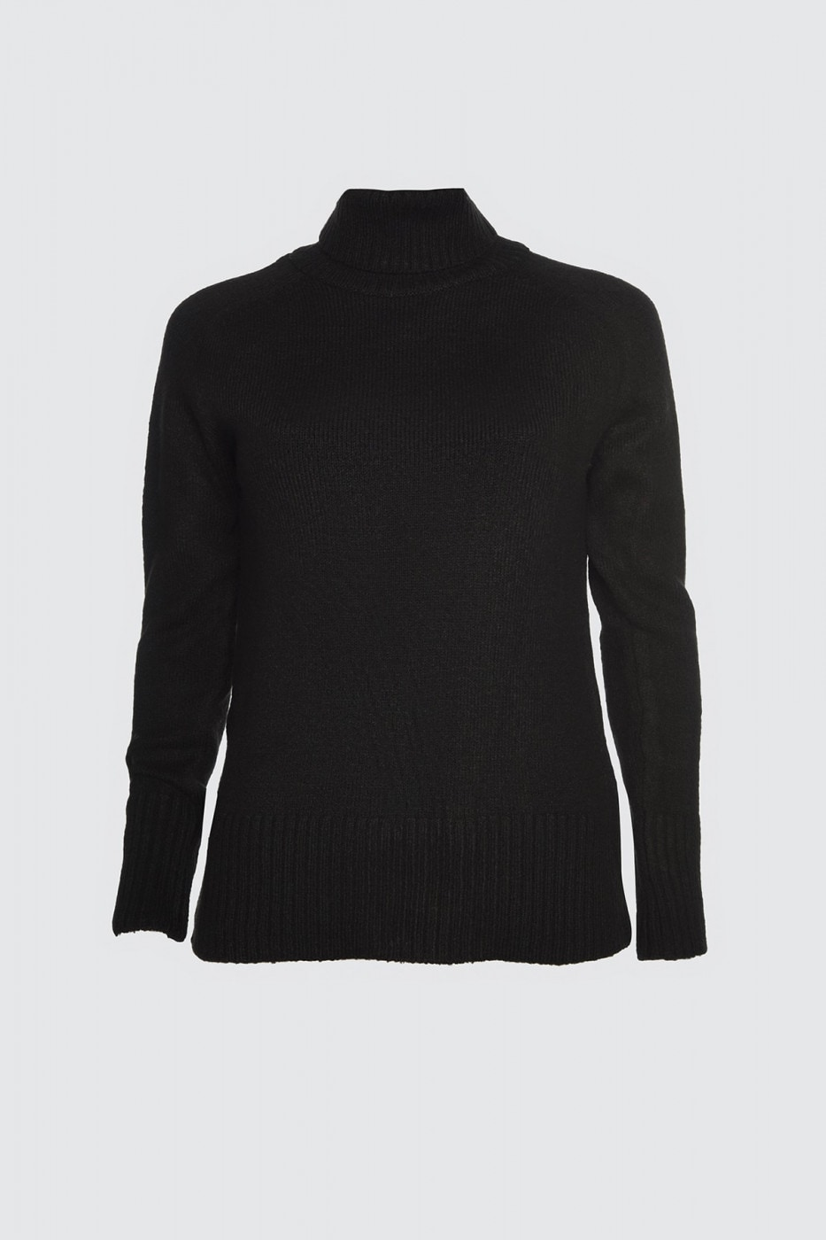 Trendyol Black Throat Knit Sweater