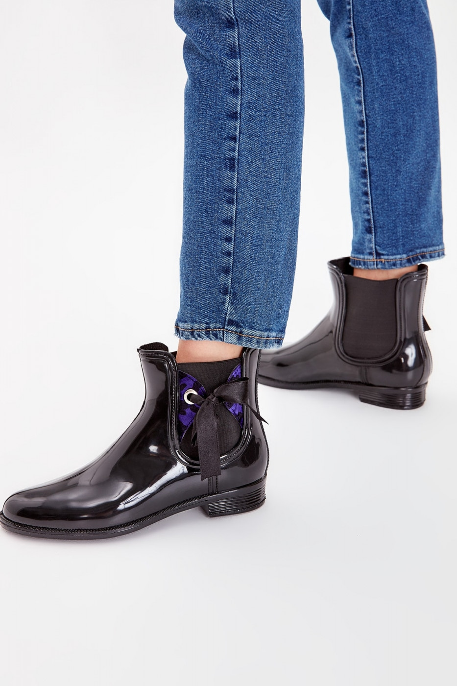 Trendyol Black Ribbon Detailed Women's Rain Boots