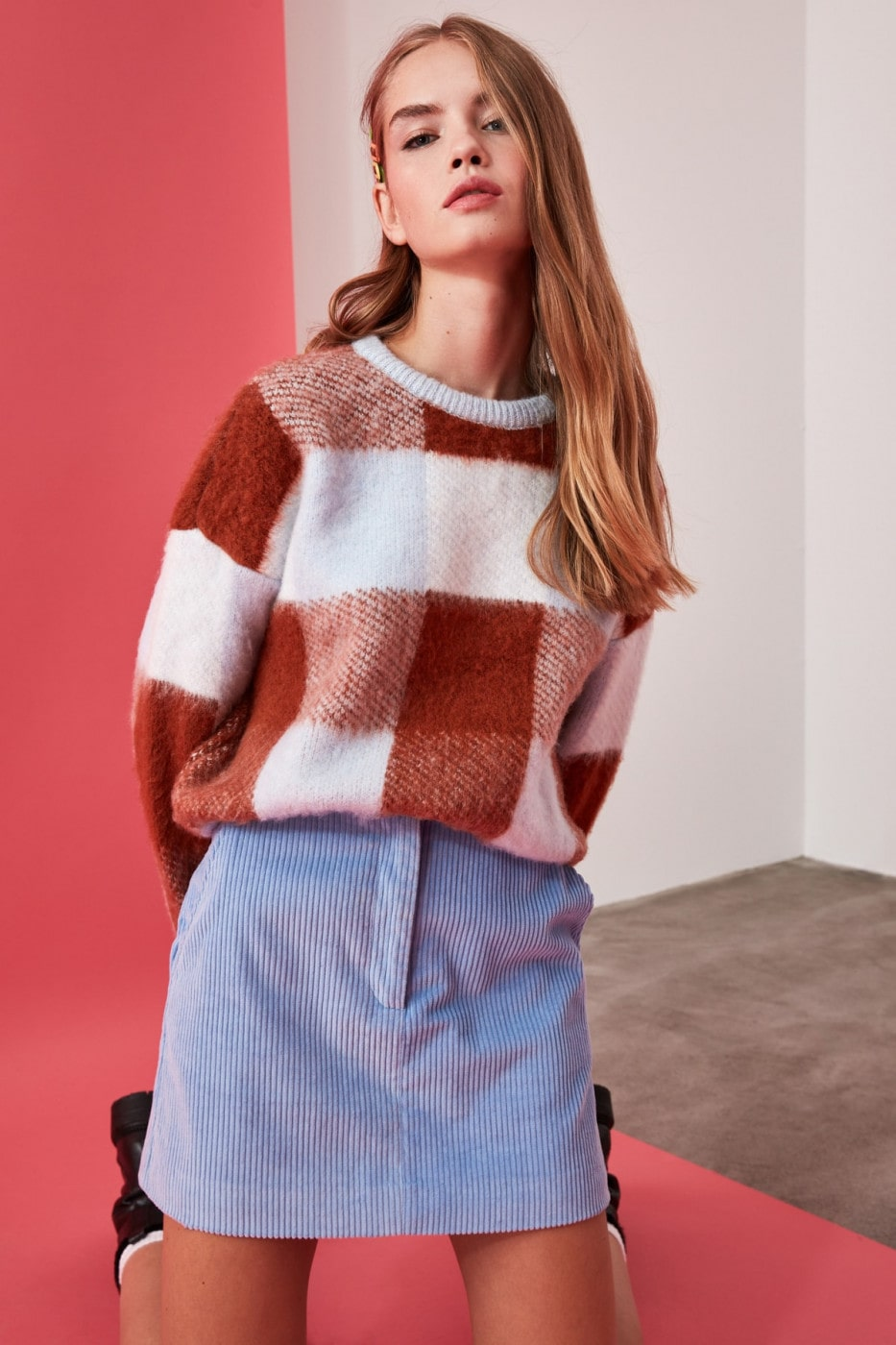 Trendyol Blue Special Technique Soft Textured Knit Sweater