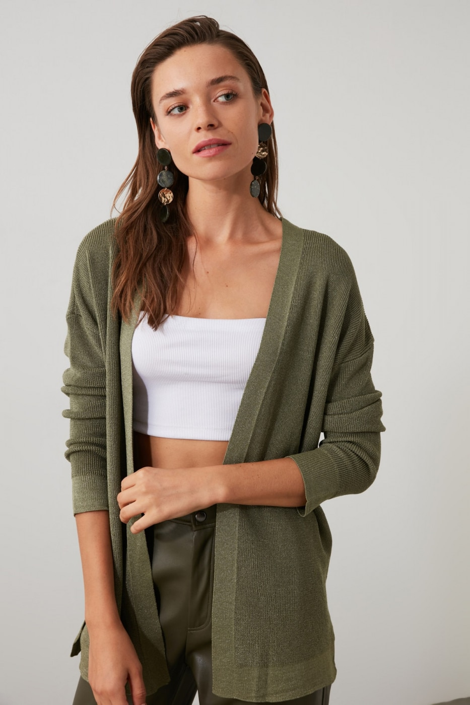 Trendyol Mint Knit Cardigan