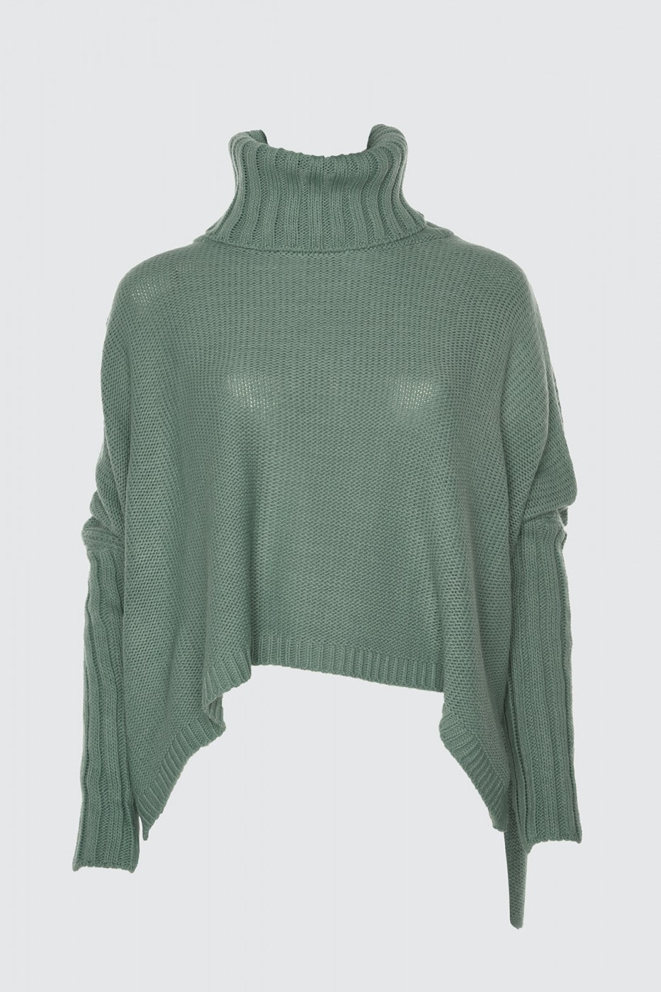 Trendyol Mint Asymmetric Knit Coin