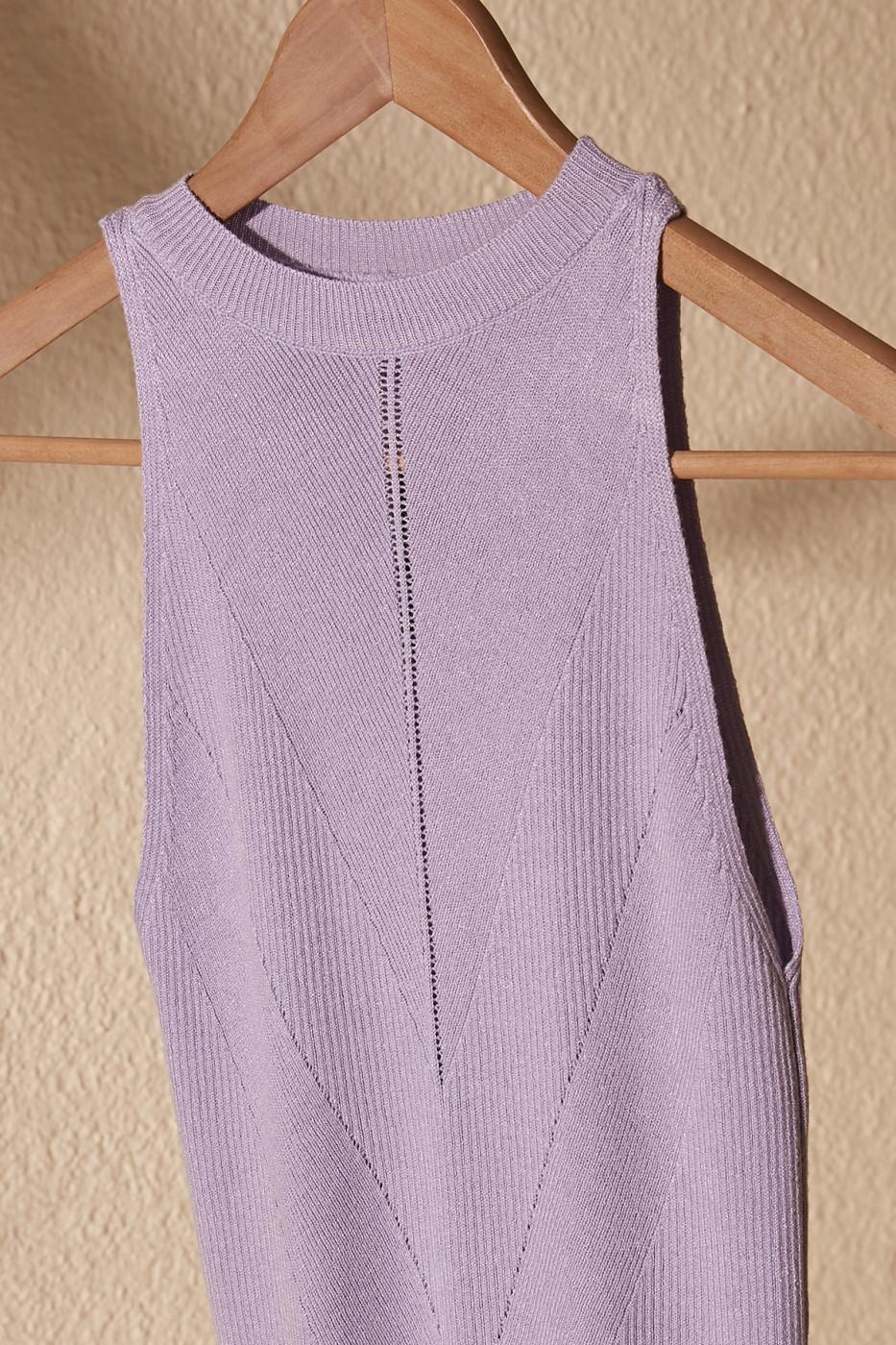 Trendyol Lila Knitted Detailed Knitwear Blouse