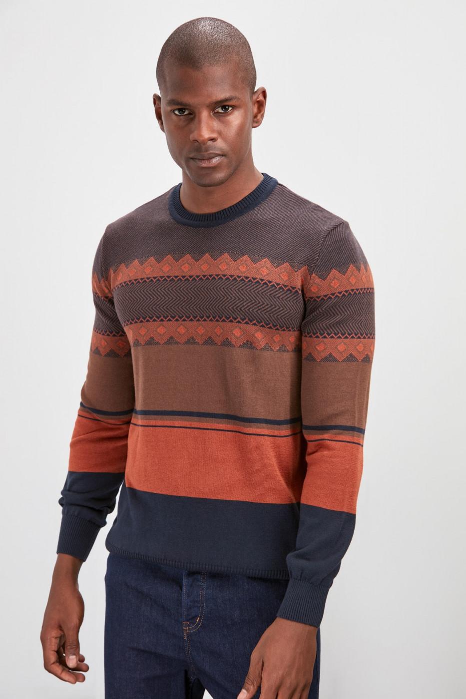Trendyol Cinnamon Men's Bicycle Collar Knitwear Sweater