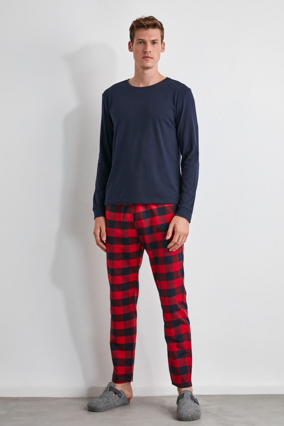 Men's pyjamas set Trendyol Plaid