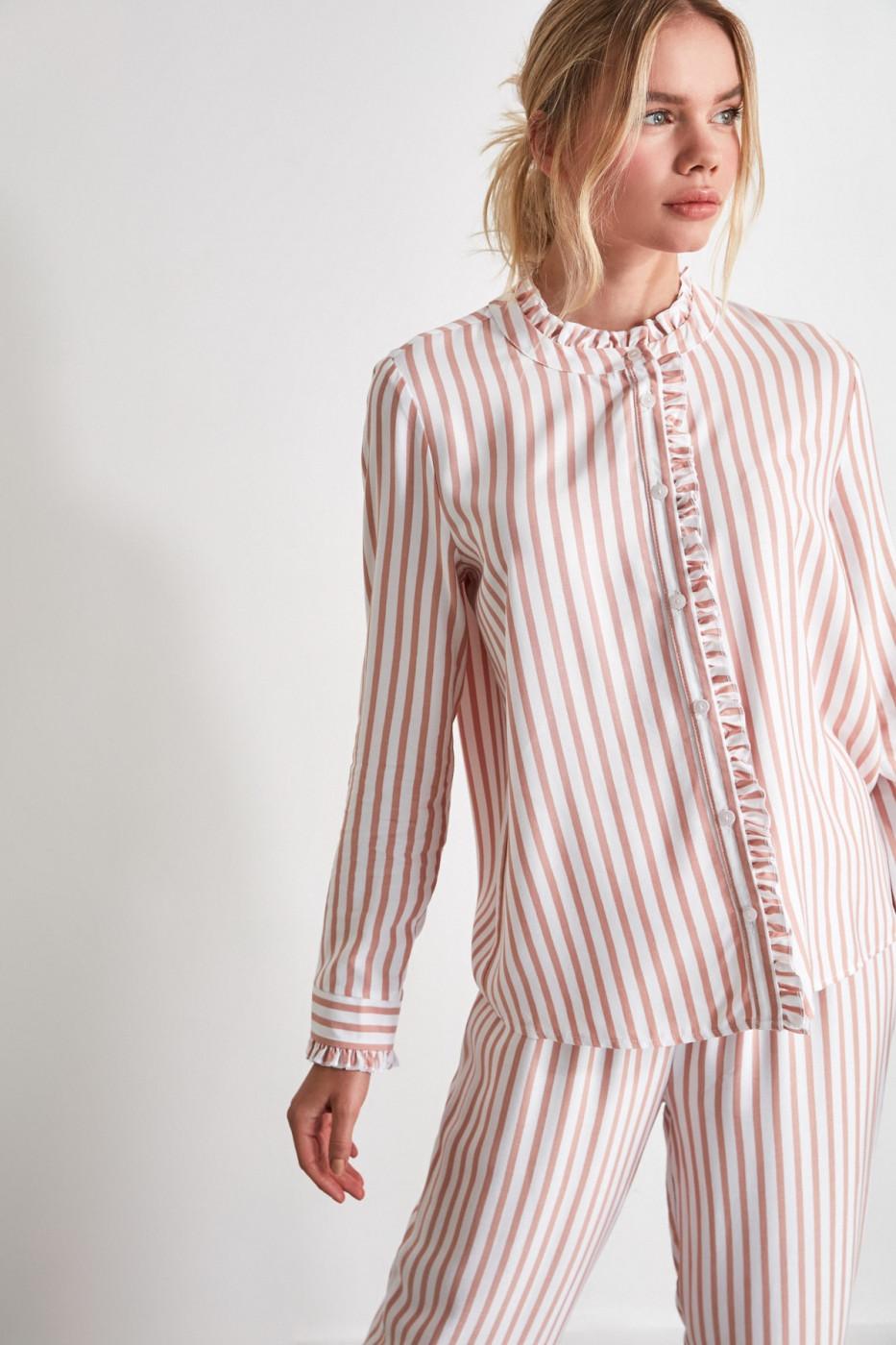 Trendyol Powder Striped Woven Pyjama Set
