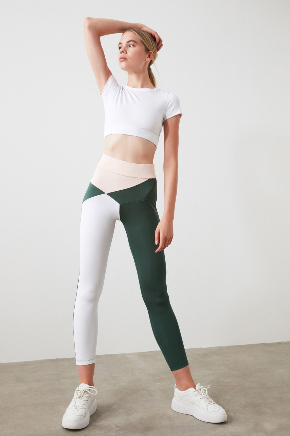 Trendyol Sports Tights with Green Block