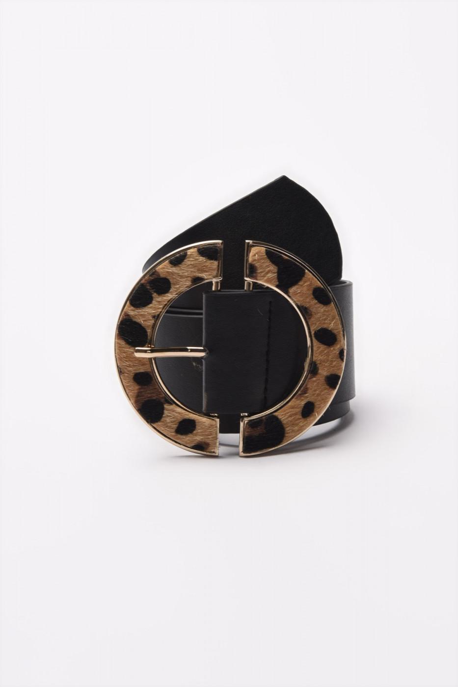 Trendyol Black Leopard Buckle Belt