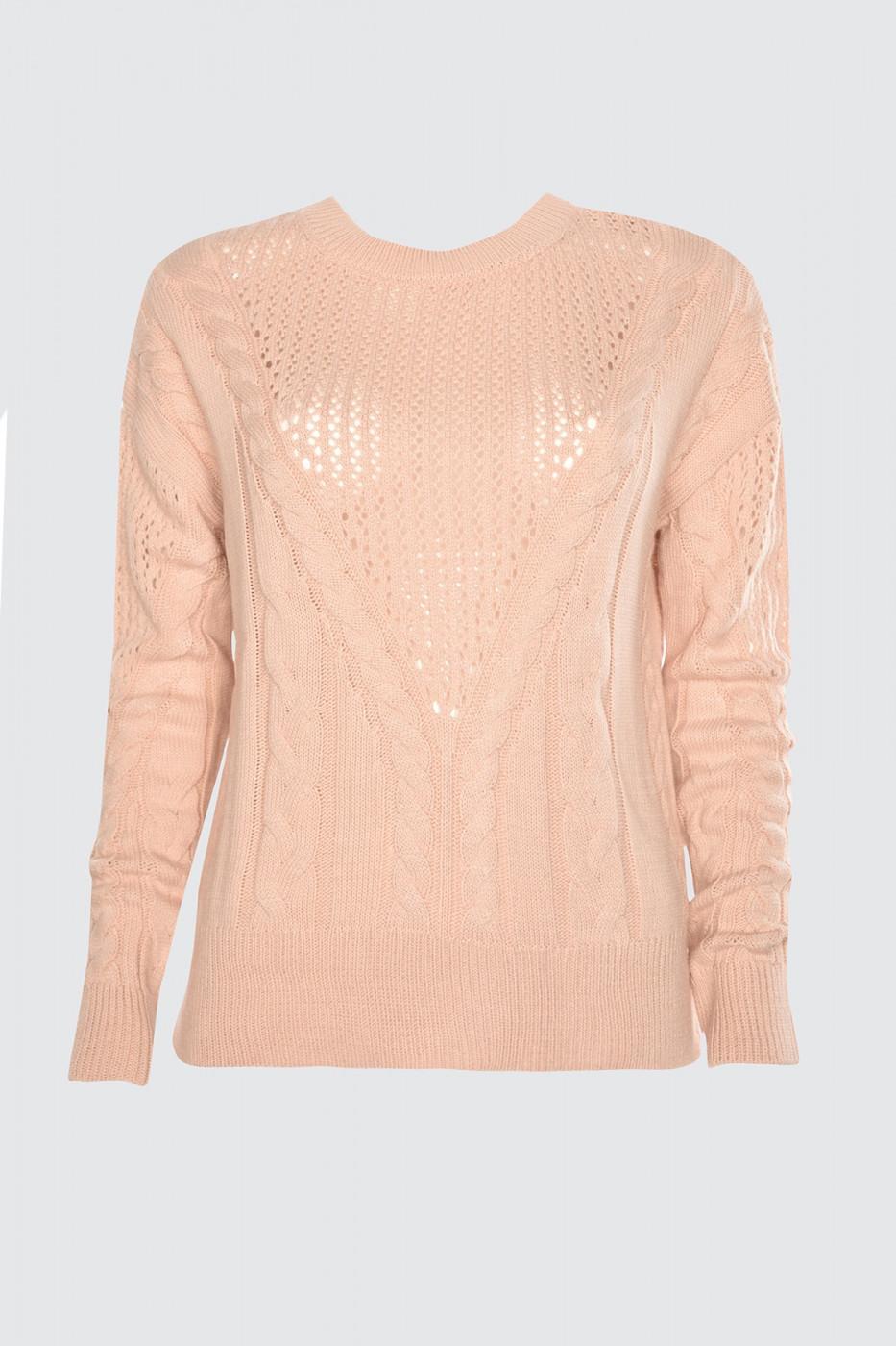 Trendyol Powder Edifying Knitted Detailed KnitWear Sweater
