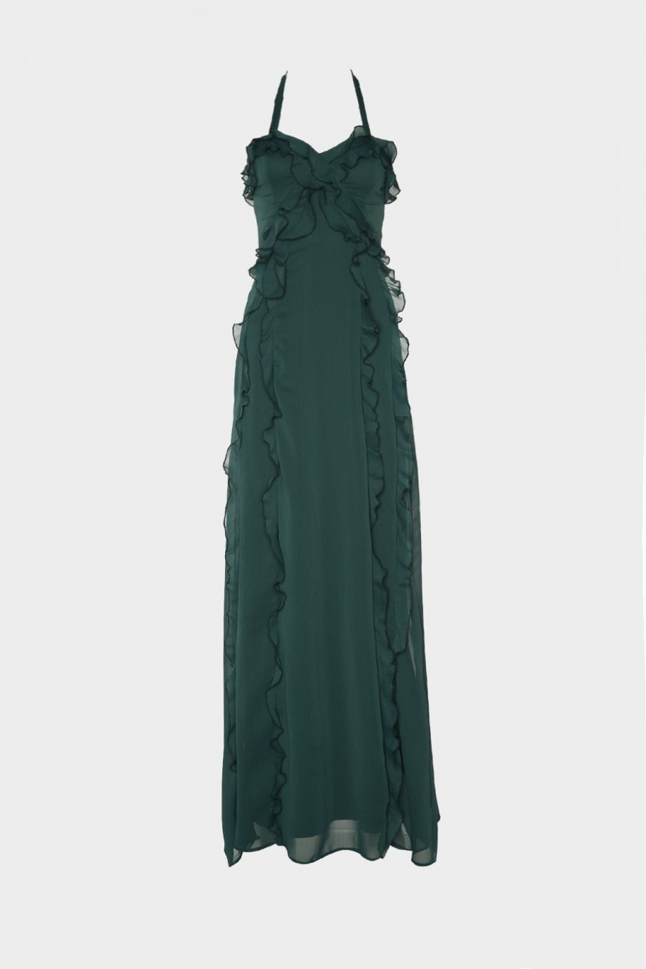 Trendyol Green Frill Detailed Evening Dress & Graduation Dress