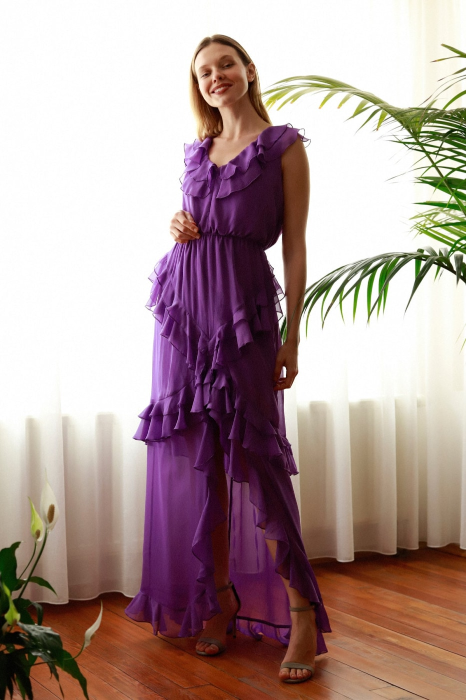 Trendyol Purple Volli Evening Dress & Graduation Dress