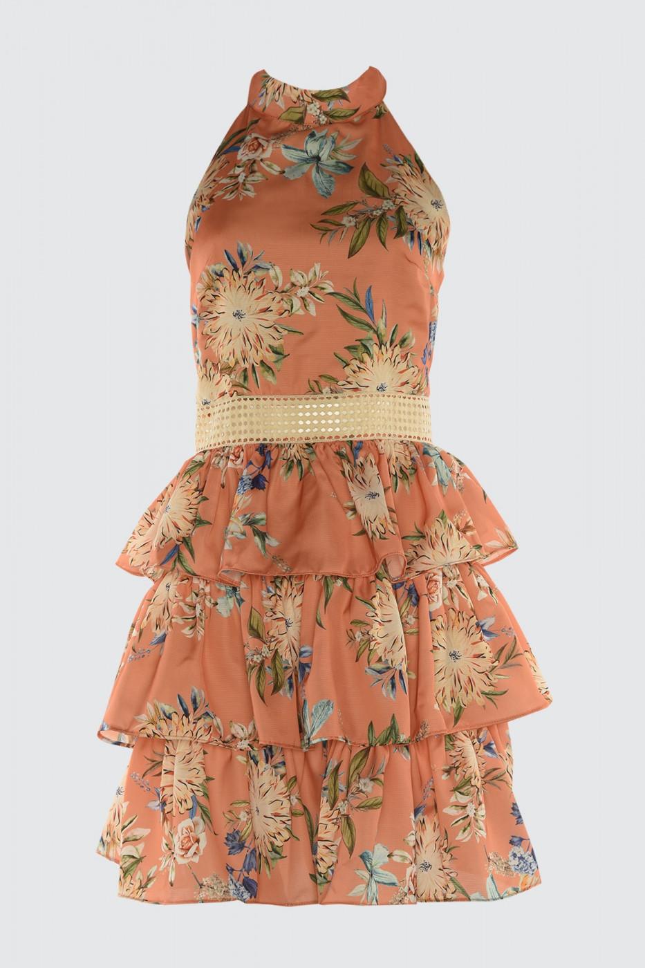 Trendyol Floral Printed Satin Dress