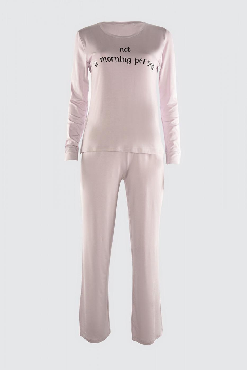 Trendyol Lila Printed Knitted Pyjamas Set