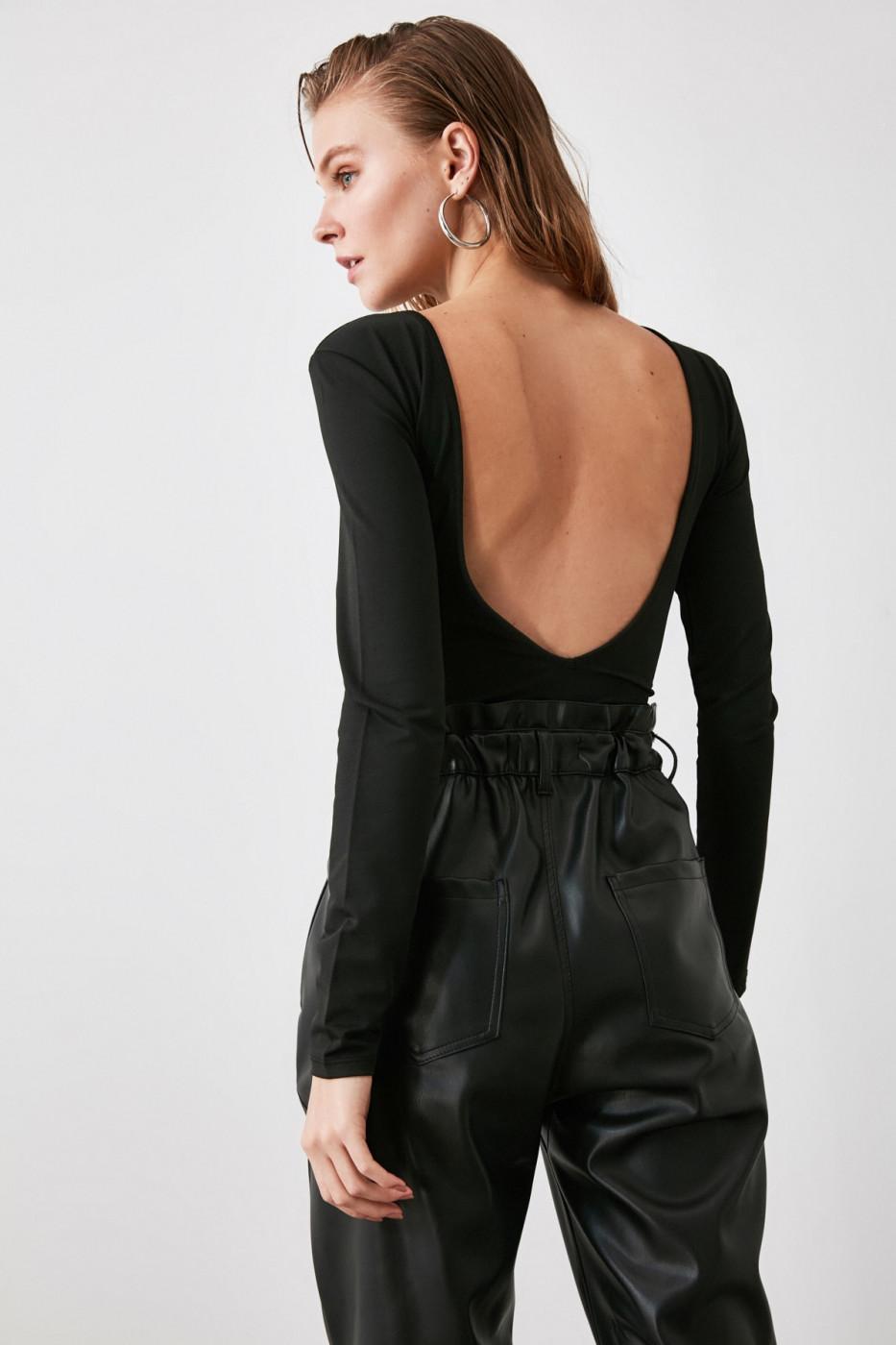 Trendyol Black Bicycle Collar Back-Drent Body