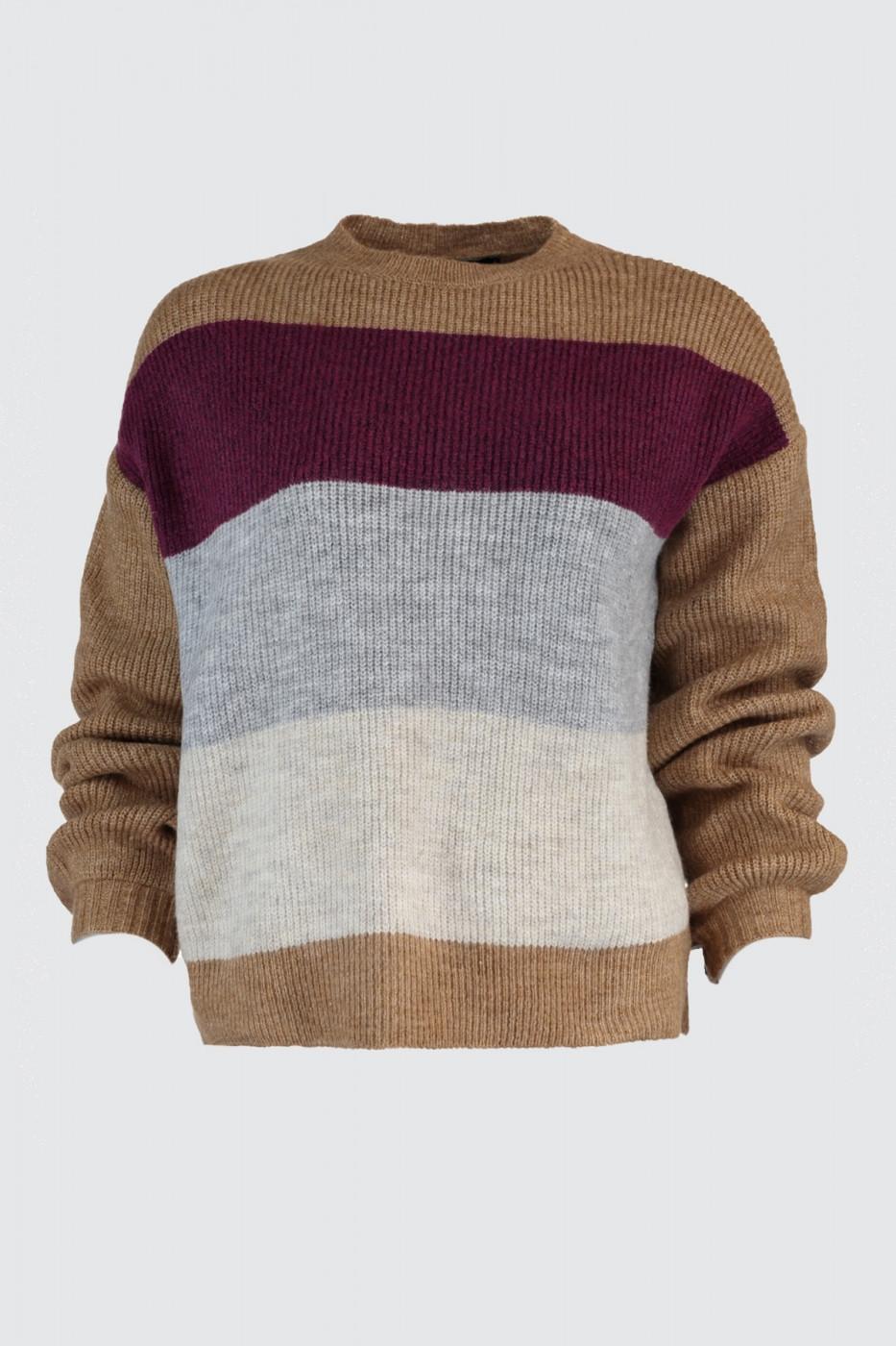 Trendyol MultiColor Block Knit Sweater