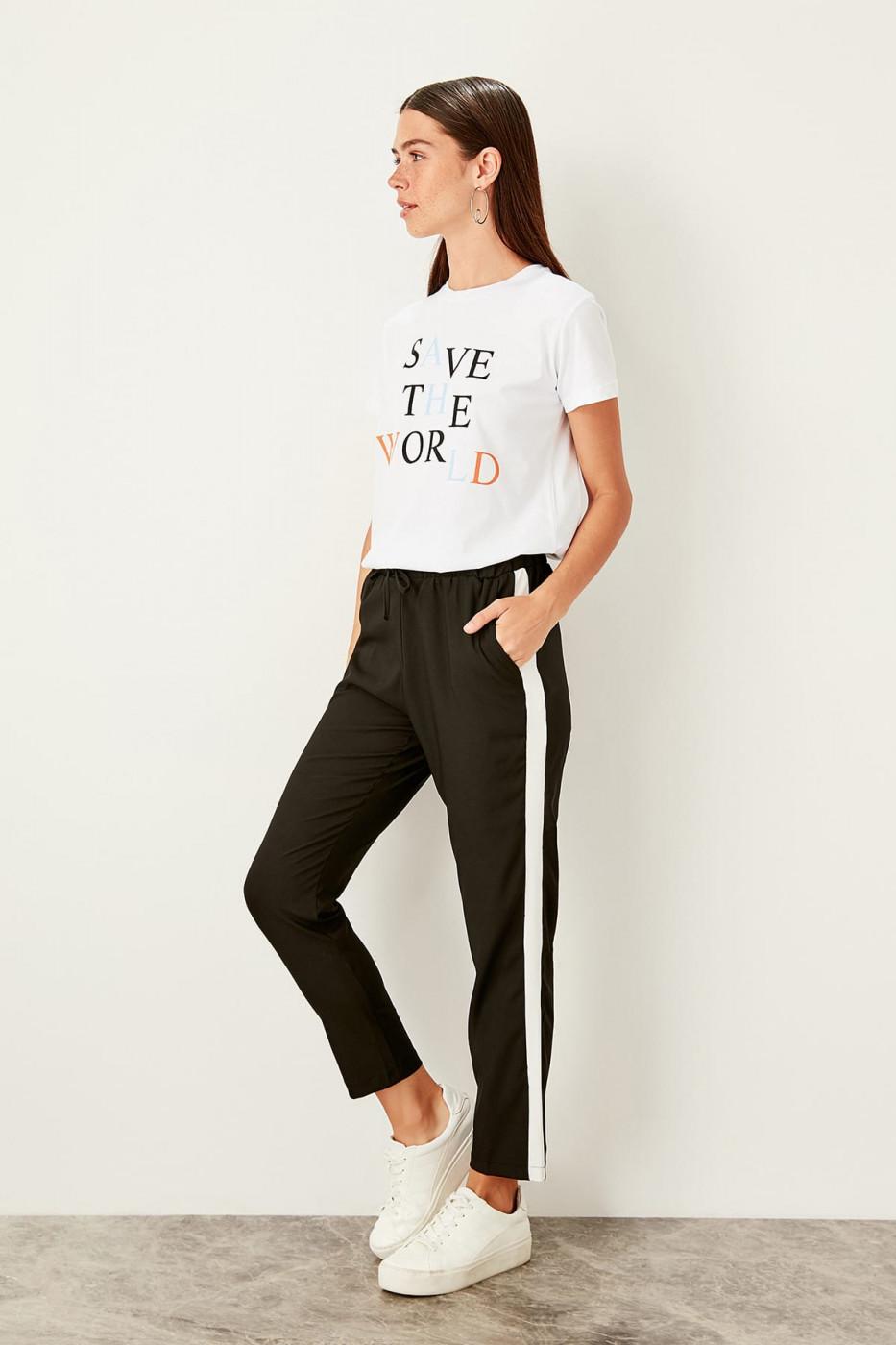 Trendyol Black Binding Detailed Pants