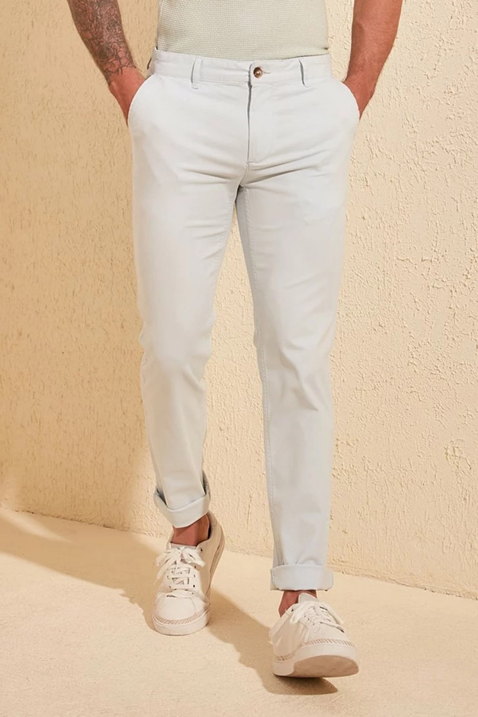 Trendyol Mint Male Chino Skinny Pants