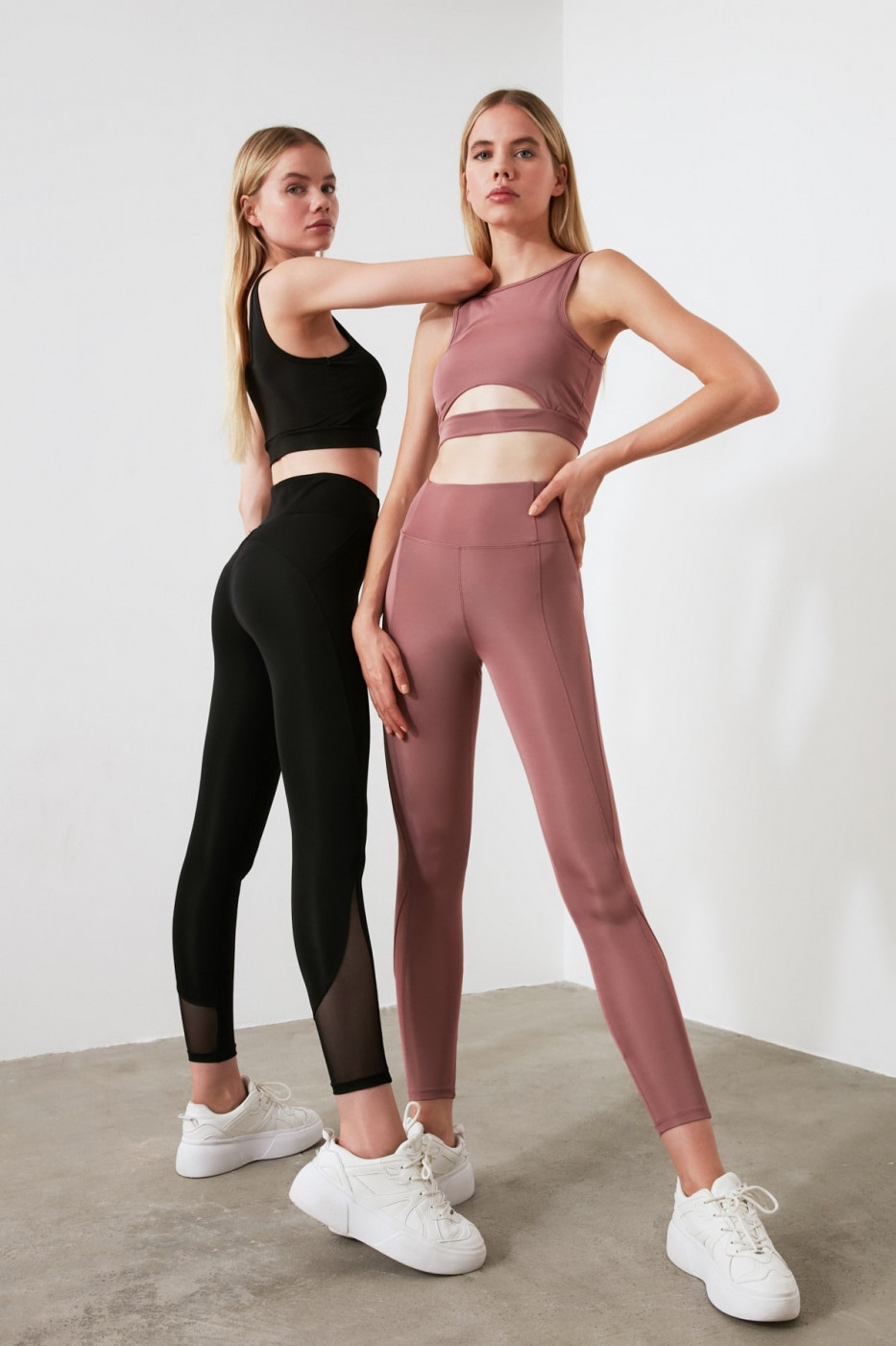 Trendyol Rose Dry Tulle Detailed Sports Tights