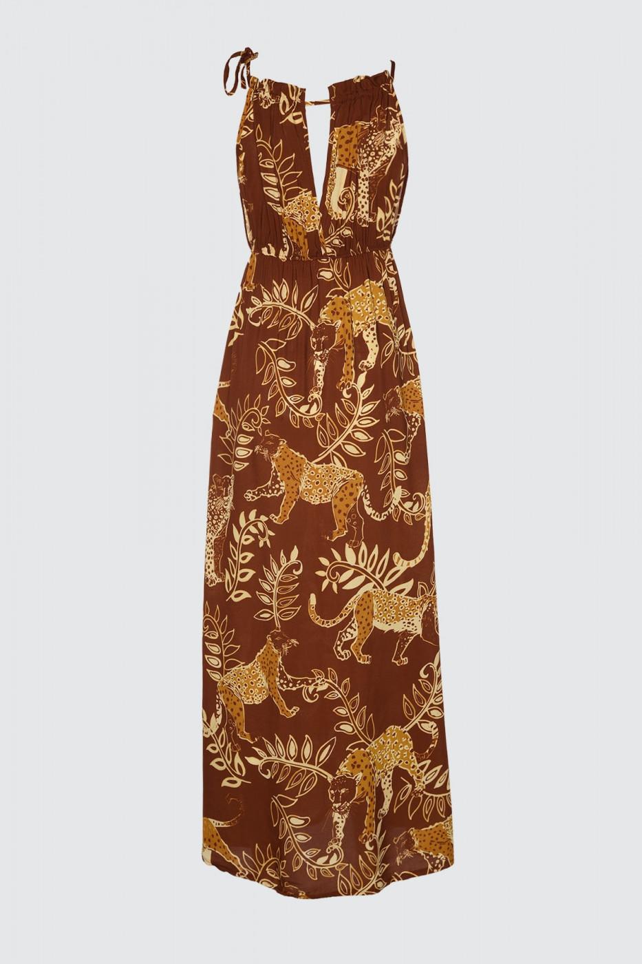 Trendyol Multi-Color Patterned Viskon Beach Dress