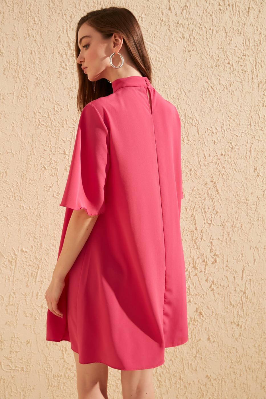 Trendyol Pink Collar Detailed Dress